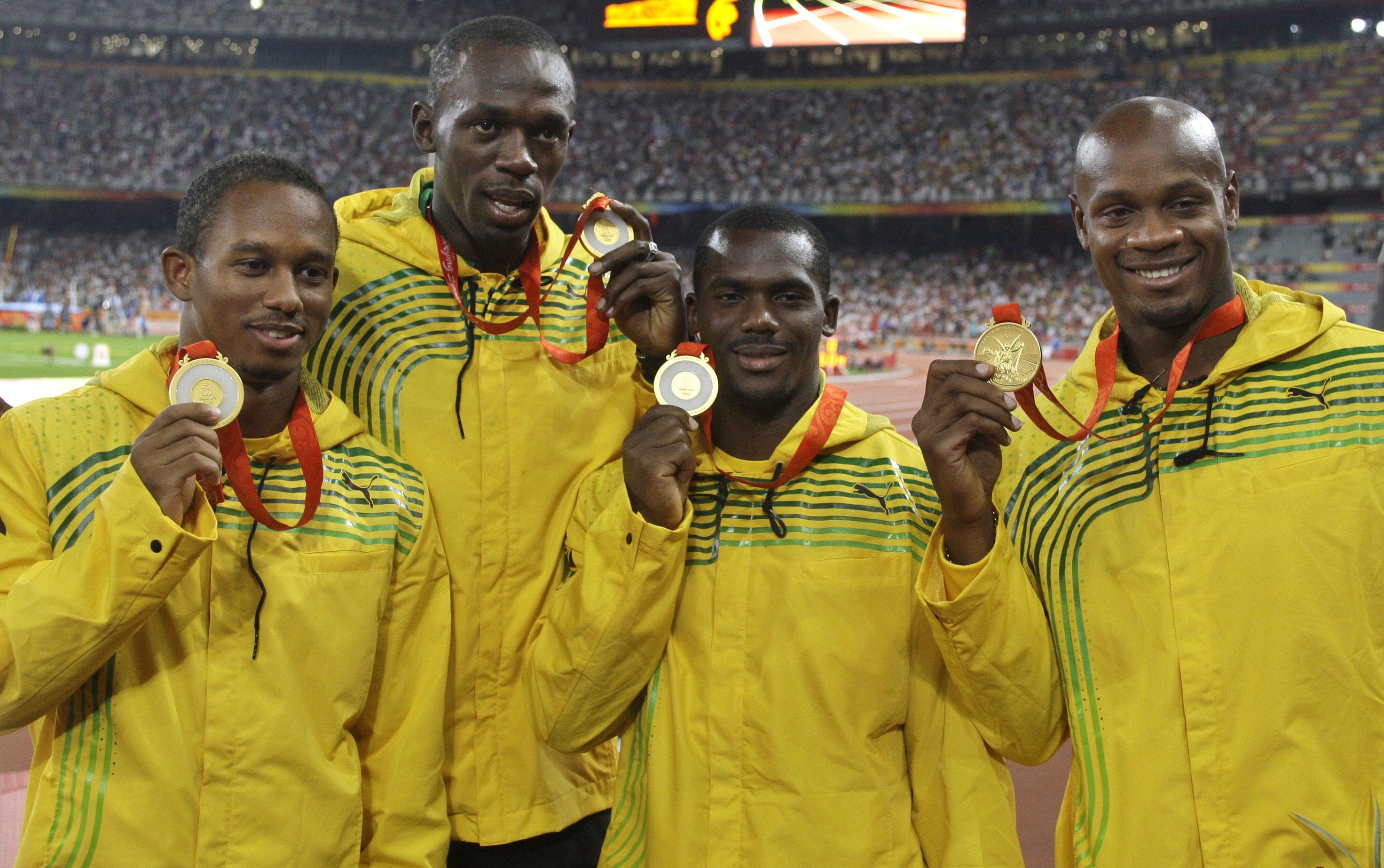 Jamaica's men's 4x100 meters relay team