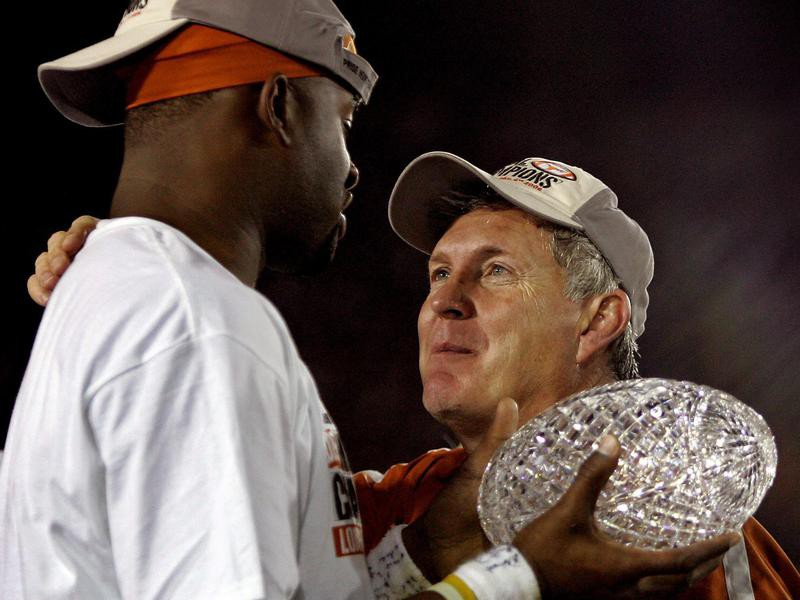Vince Young and Mack Brown