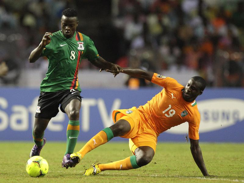 Ivory Coast's Yaya Touré, right, challenges Zambia's Isaac Chansa during an African Cup of Nations match.
