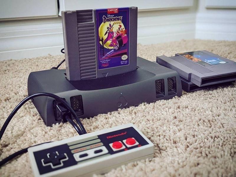 Nintendo gaming system on carpet