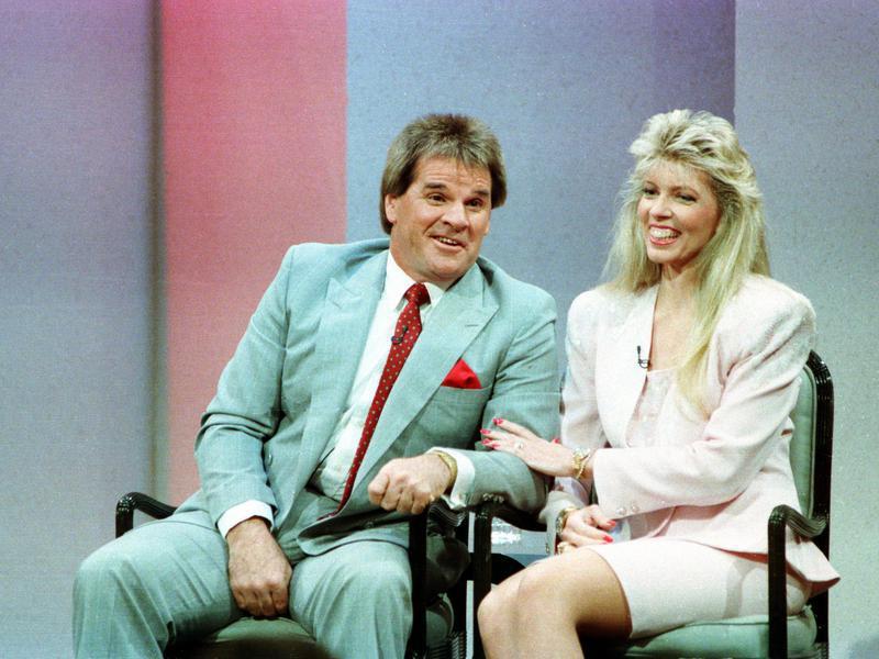 Pete Rose and Carol Woliung