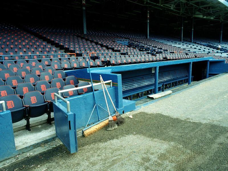 Empty Detroit Tigers' Dugout