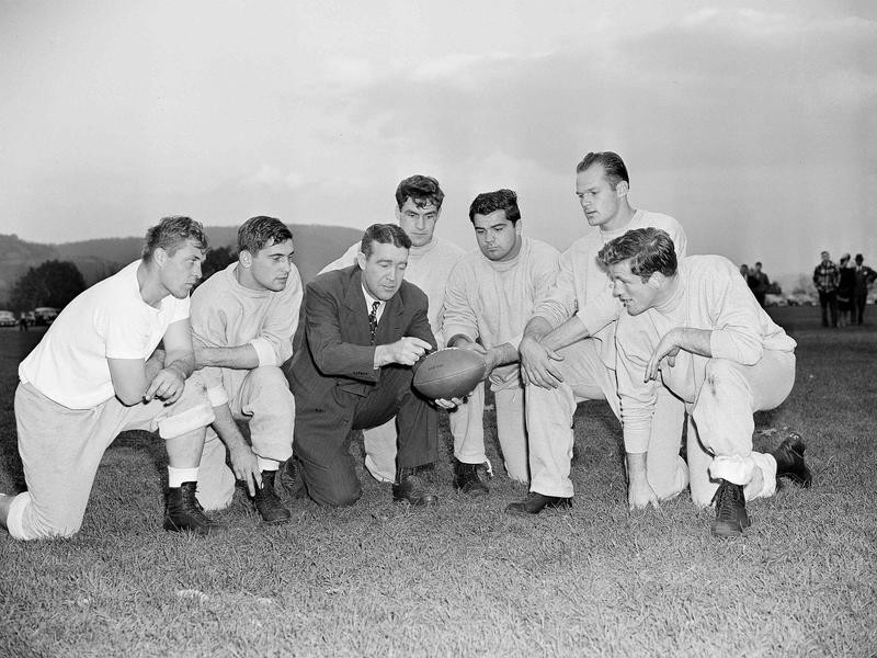 Frank Leahy and players