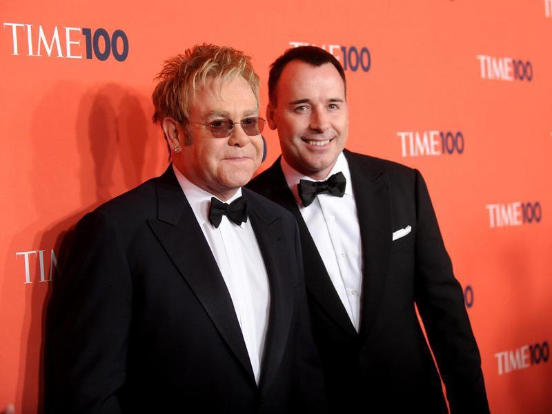 Sir Elton John and husband David Furnish attend the TIME 100 gala