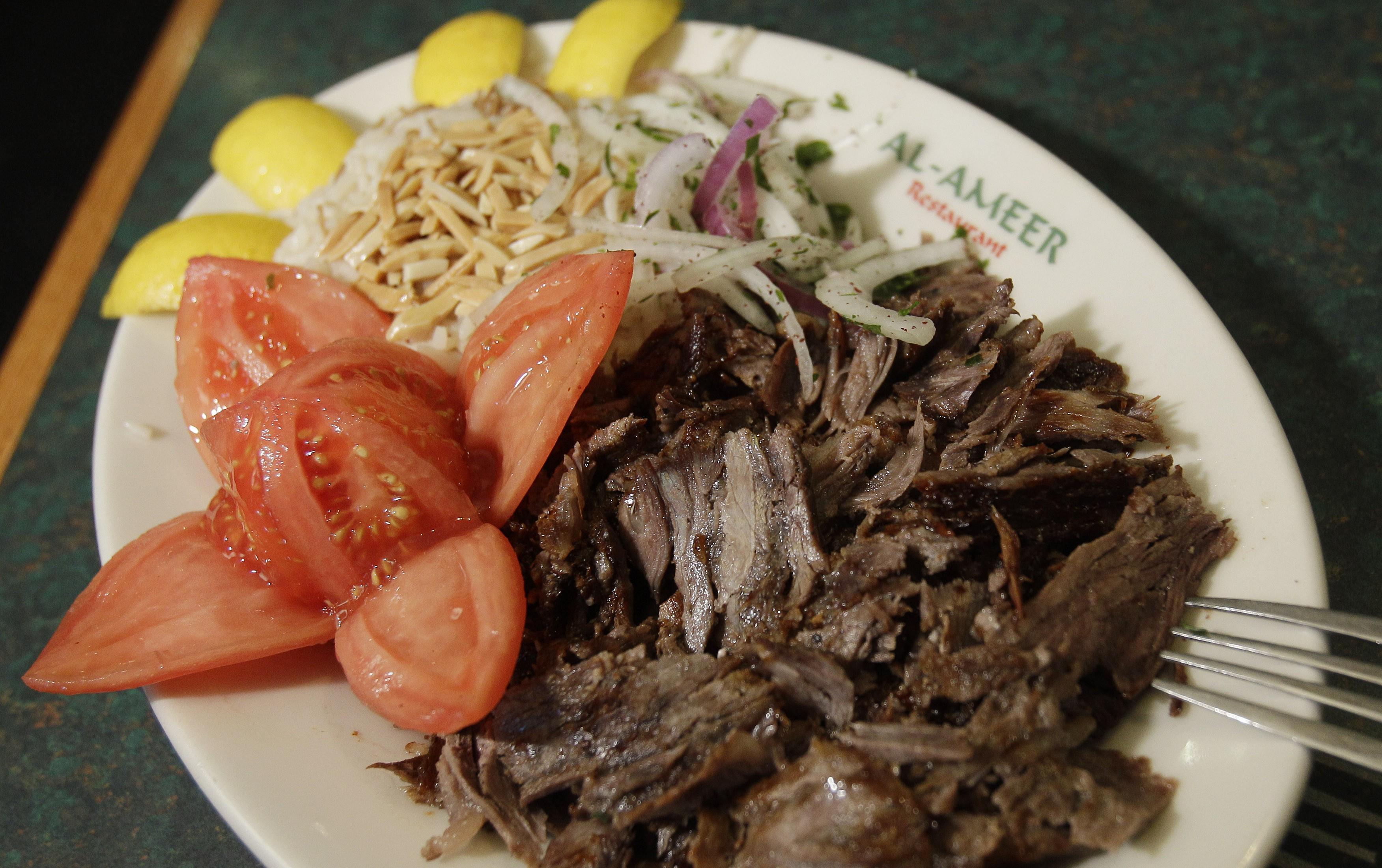 Lamb shawarma in Michigan