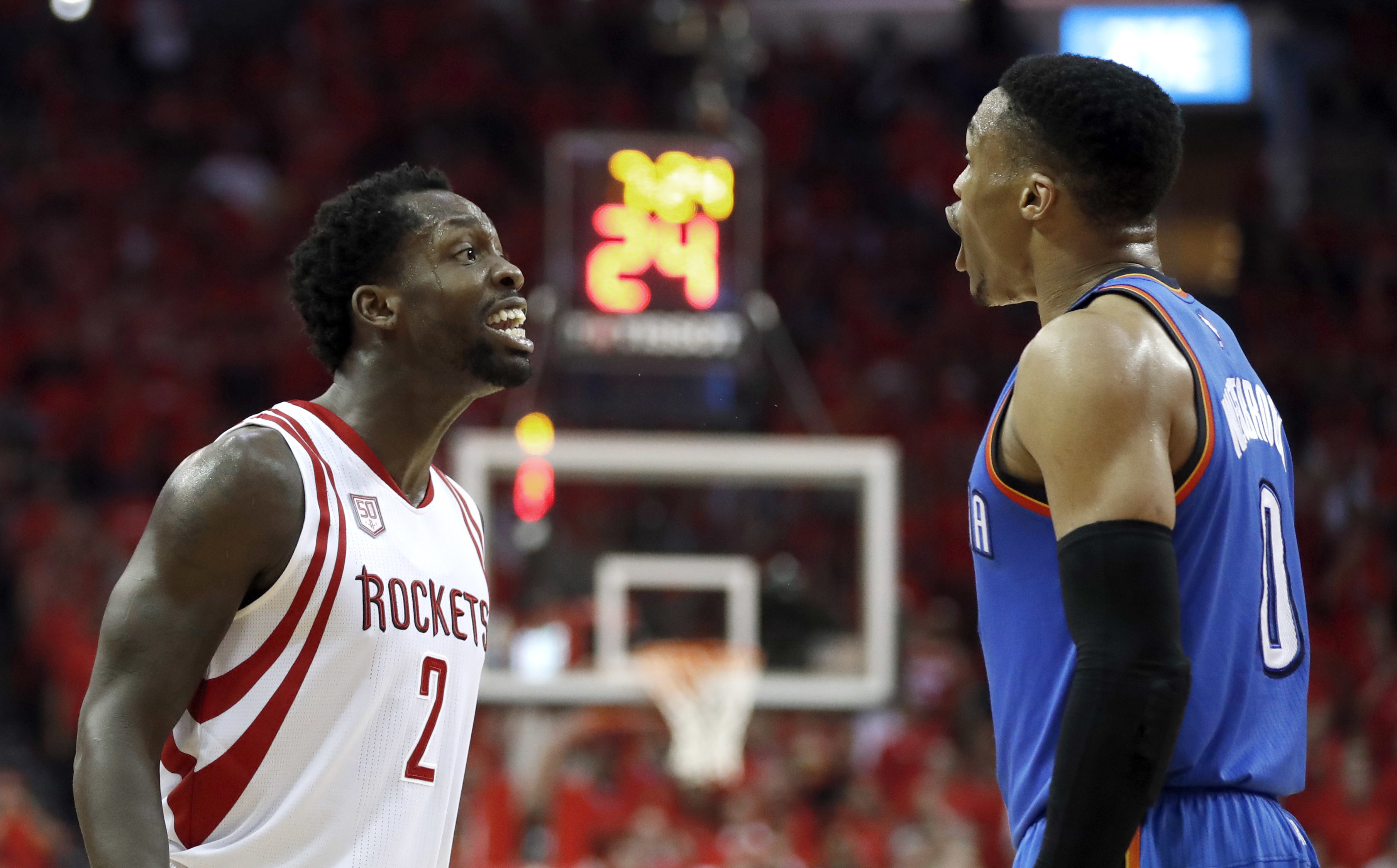 Patrick Beverley and Russell Westbrook