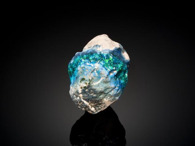 Halley's Comet black opal