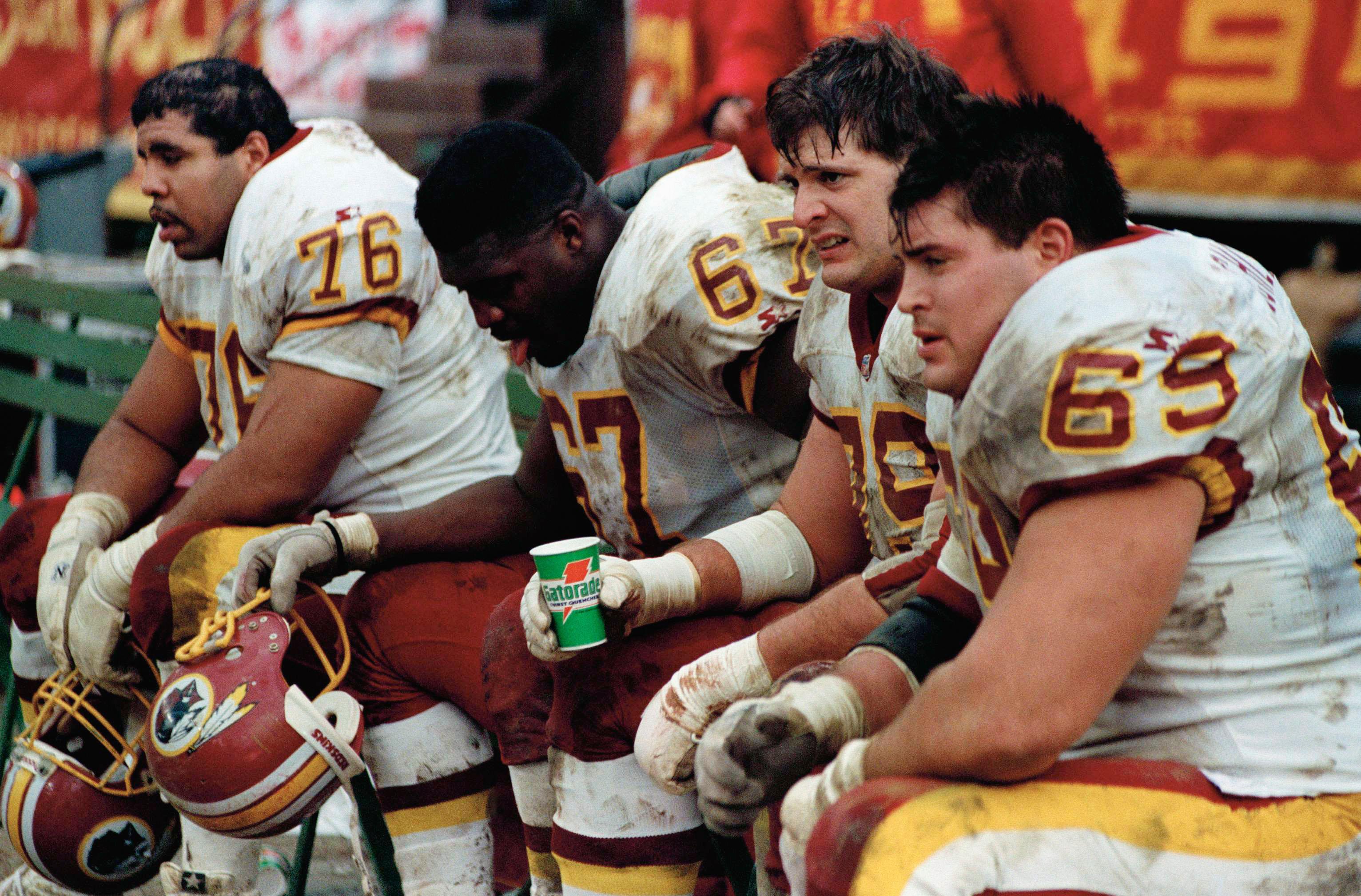 Mark Schlereth and Redskins offensive linemen