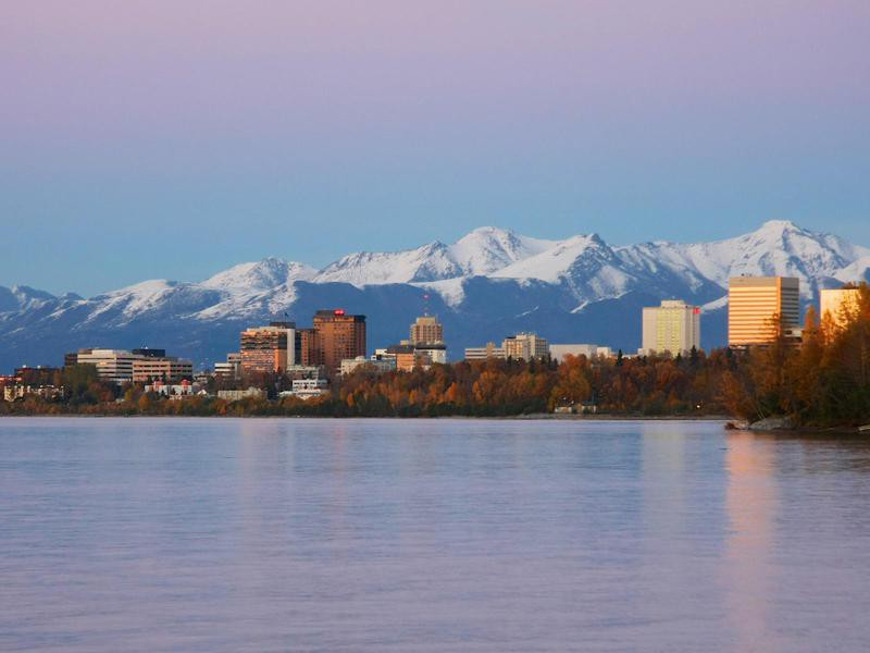 Anchorage, Alaska in the Fall
