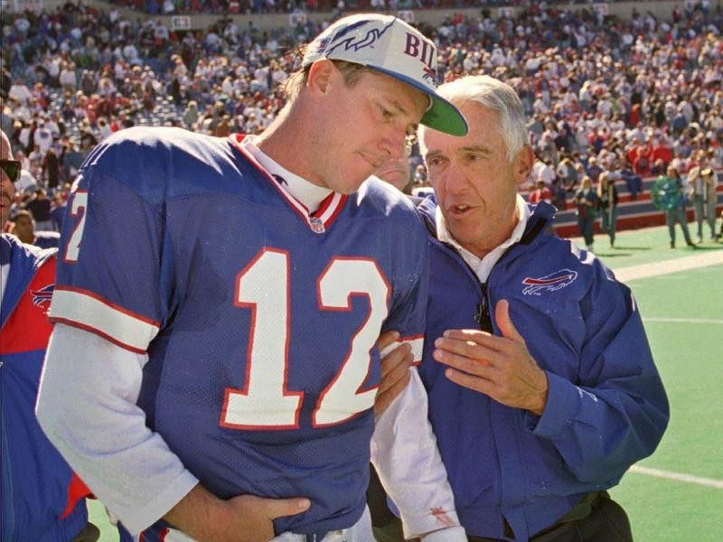 Jim Kelly and Marv Levy