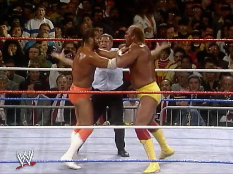 "Randy ""Macho Man"" Savage and Hulk Hogan"