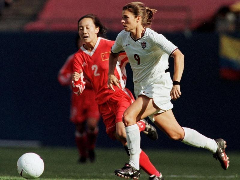 U.S. forward Mia Hamm