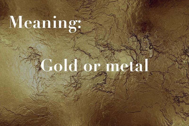 gold or metal