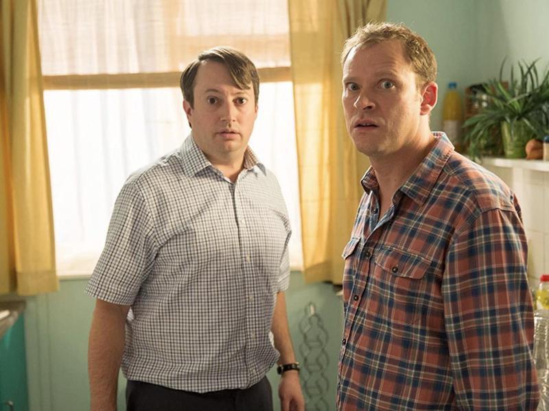 David Mitchell and Robert Webb in Peep Show