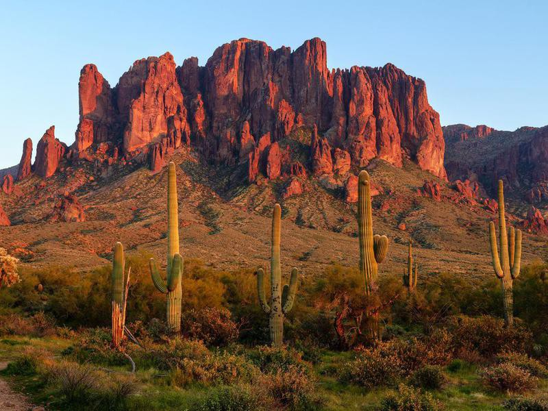 The Superstition Mountains at Lost Dutchman State Park, Arizona