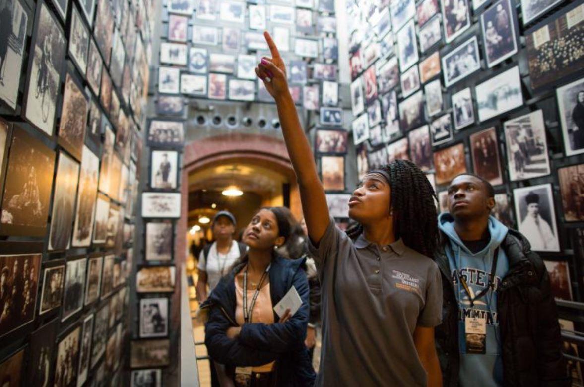 United States Holocaust Memorial Museum room of faces