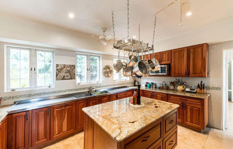 Wood kitchen with center island
