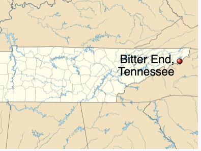 Map of Bitter End, Tennessee*