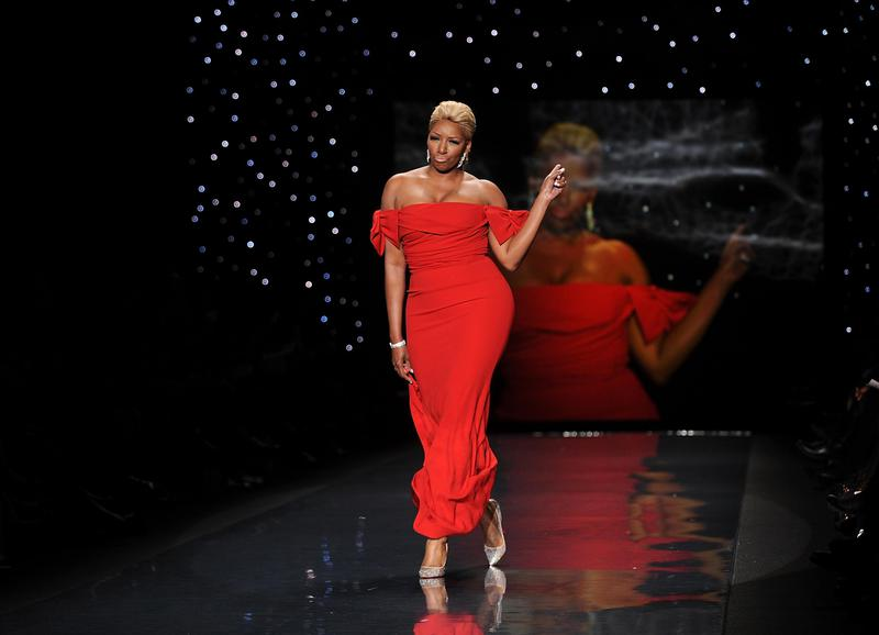 NeNe Leakes models an outfit from the Red Dress Collection in New York in 2014.