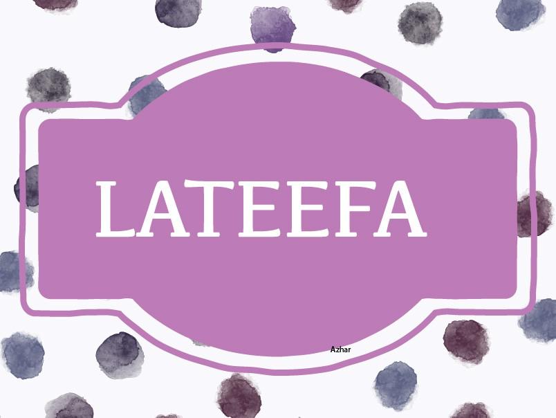 Lateefa
