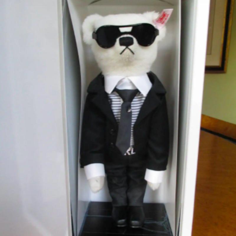 Steiff Karl Lagerfeld Teddy Bear in box