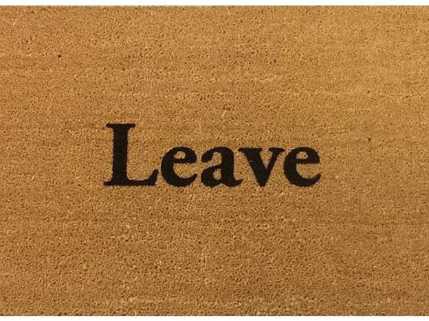 Leave funny doormat