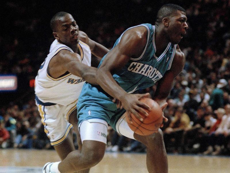 Charlotte Hornets forward Larry Johnson