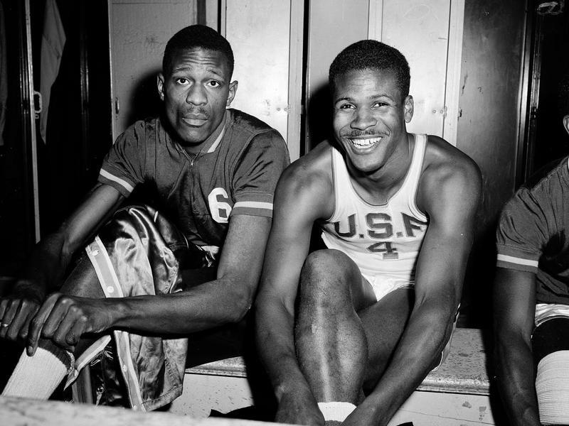 K.C. Jones and Bill Russell