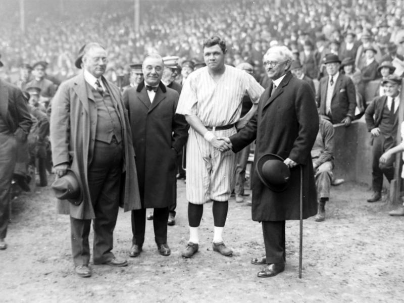 Babe Ruth, Col. Tillinghast L'Hommedieu Huston, Jacob Ruppert, Nathan L. Miller
