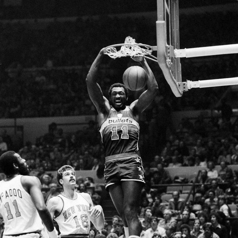 Elvin Hayes dunks ball