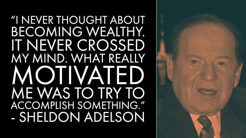 Sheldon Adelson Money Advice
