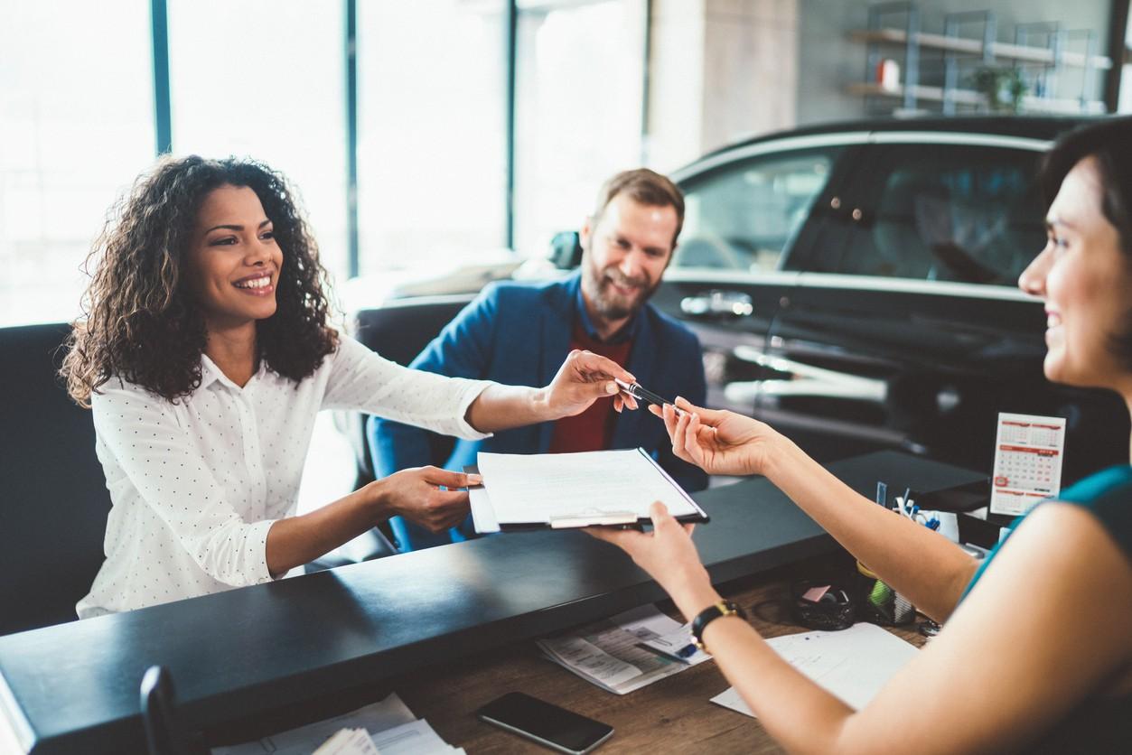 People Renting Car