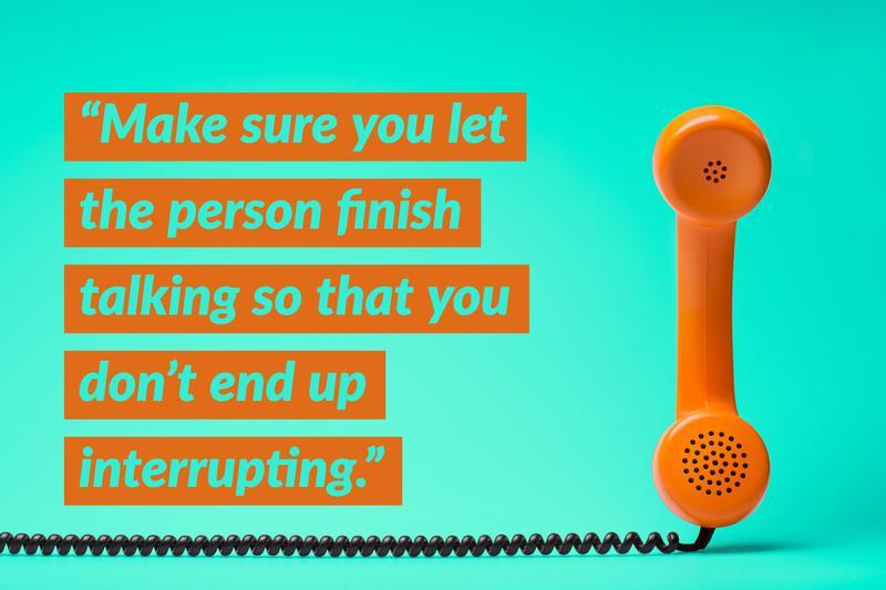 Phone interview etiquette