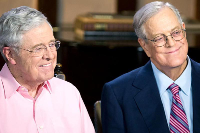 Charles Koch (left) and David Koch