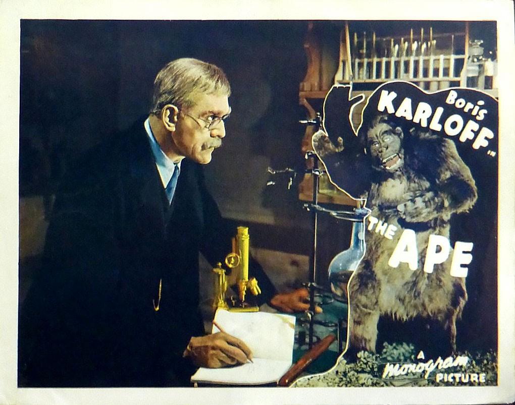 "Boris Karloff in ""The Ape"""