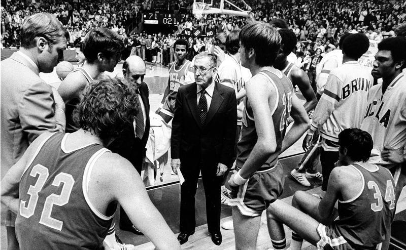 UCLA coach John Wooden