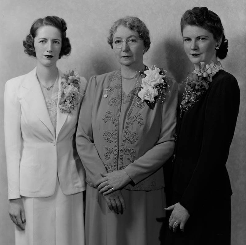 Portrait of Three Women in Suits