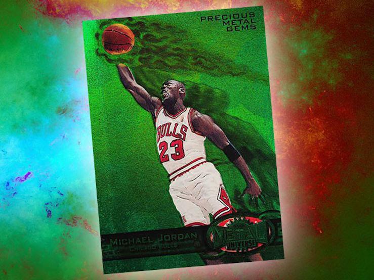 Michael Jordan 1997 Metal Universe card