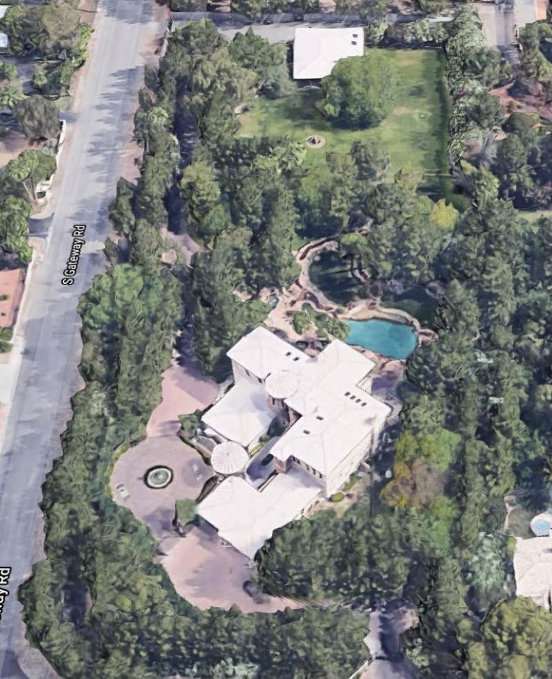 Wayne Newton's house aerial view