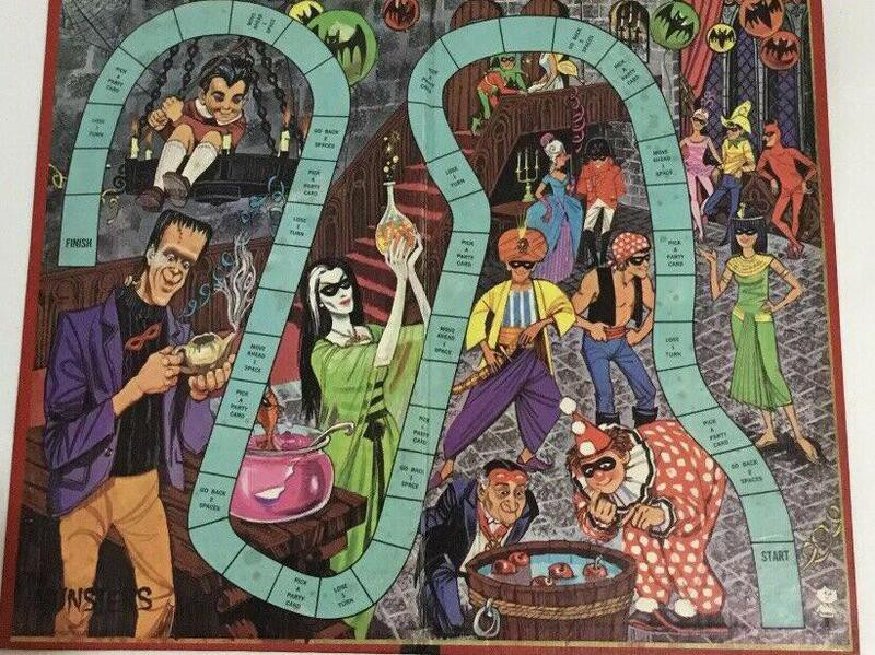 Munsters Masquerade Party valuable board game board