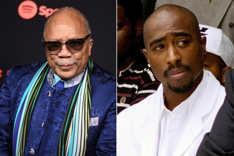 Quincy Jones and Tupac Shakur