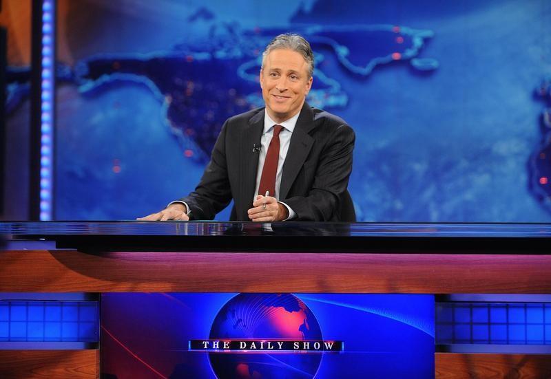 Jon Stewart taping The Daily Show