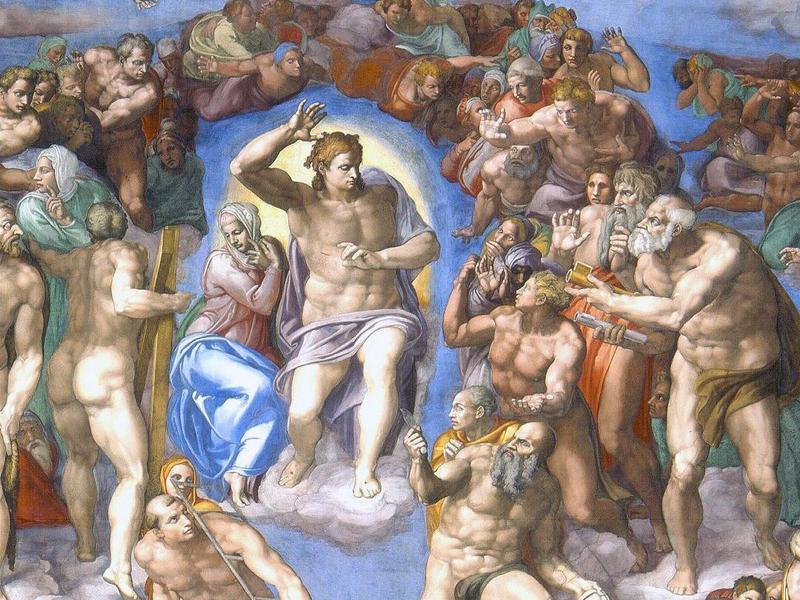 The Last Judgement by Michelangelo, 1541