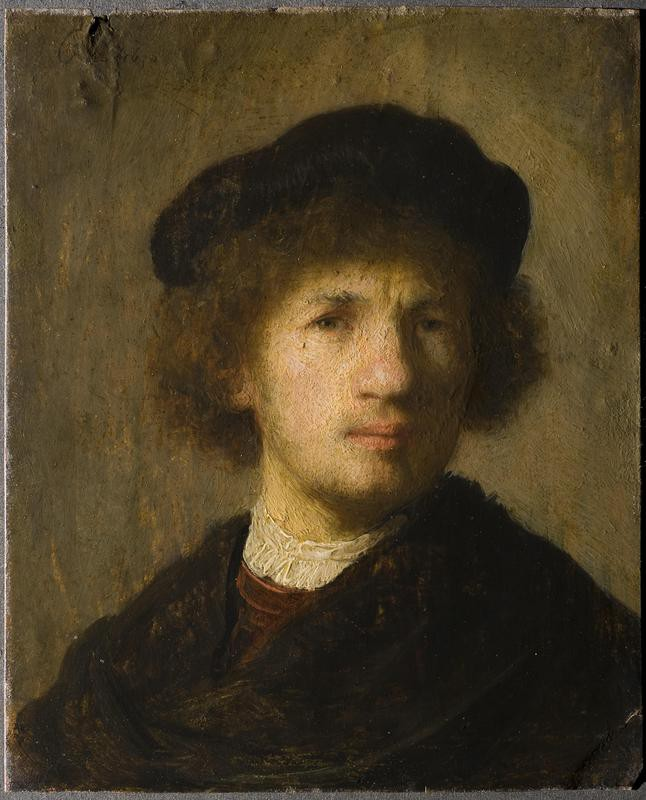 Rembrandt self-portrait at the Nationalmuseum