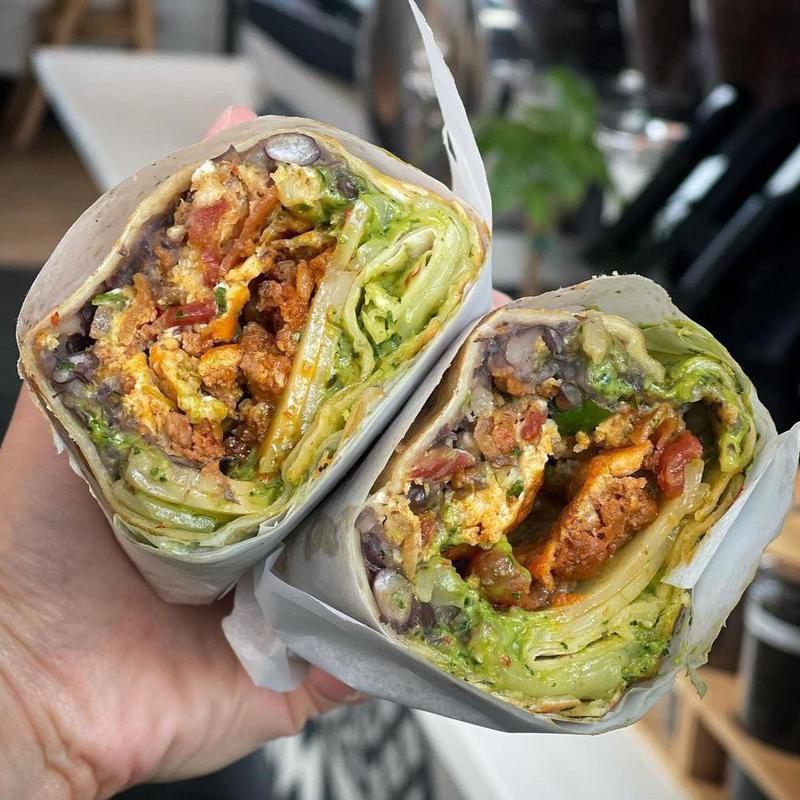 Eggspresso breakfast burrito