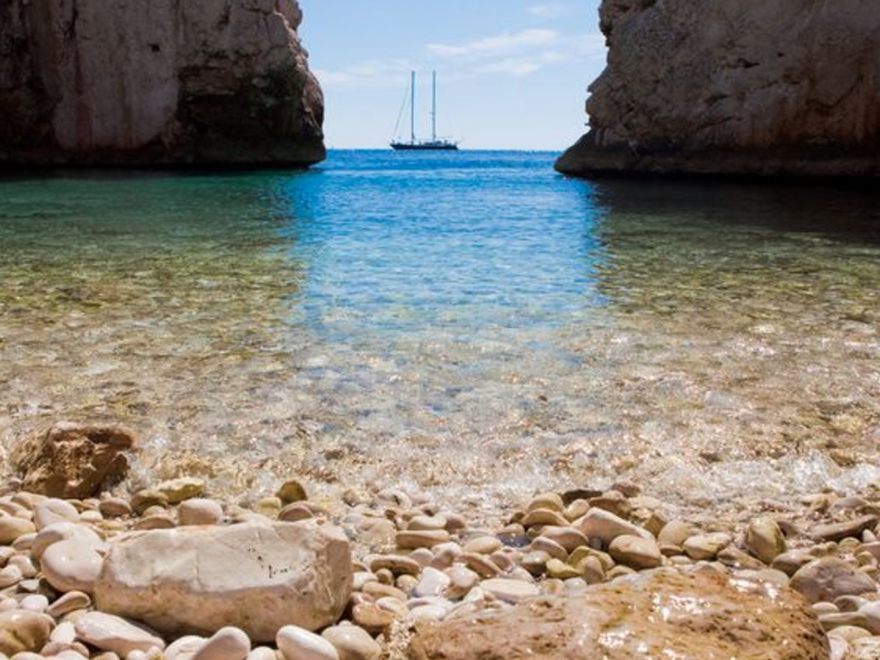 Stiniva Beach, Vis Island, Croatia.