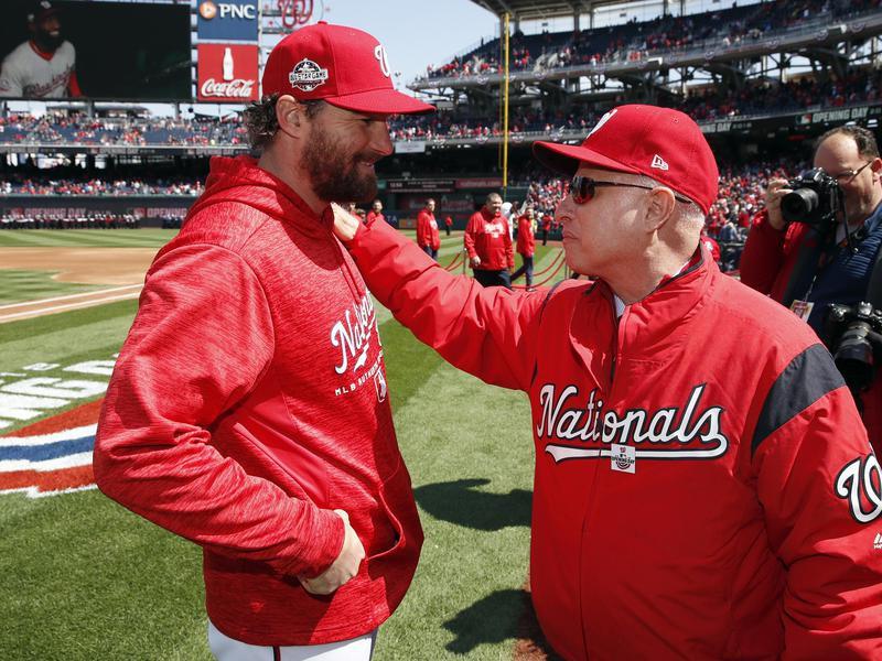 Mark Lerner and Washington Nationals second baseman Daniel Murphy