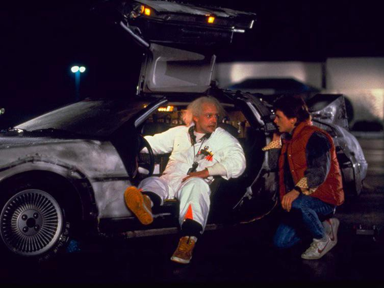 Michael J. Fox and Christopher Lloyd in Back to the Future