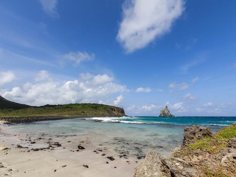 Atalaia Beach in Fernando de Noronha tropical island