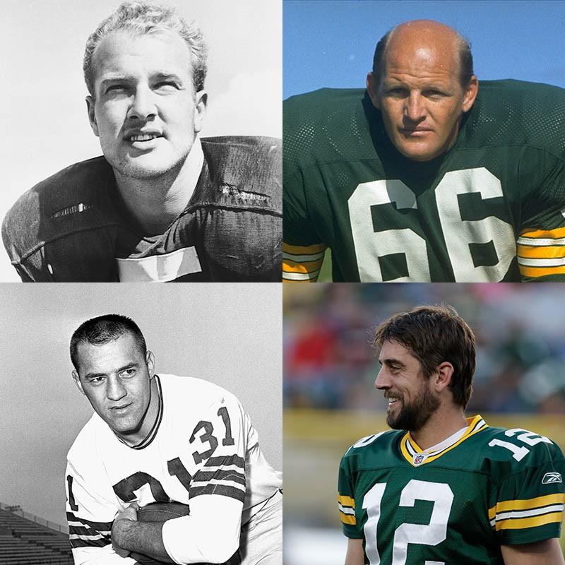 Paul Hornung, Ray Nitschke, Aaron Rodgers, Jim Taylor